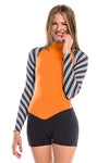 Vibrant Stripes 2 MM Long Sleeve Back Zip GBS Springsuit