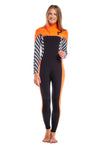 Vibrant Stripes 5/4 MM Chest Zip GBS Wetsuit