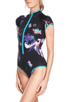 Bloom 1 MM Short Sleeve Front Zip Springsuit Reversible