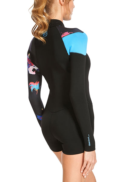 Pre-Order Now! Delivery In April: Bloom 2 MM Long Sleeve Front Zip GBS Springsuit