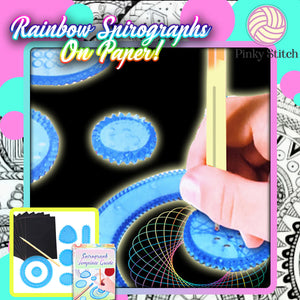 Rainbow Spirograph Guide Set