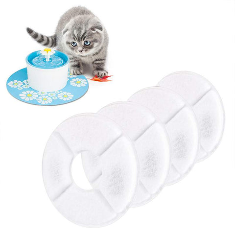 4PCS Activated Carbon Filters Charcoal Filter Replacement for Fountain for Cat Dog Pets Drink Water