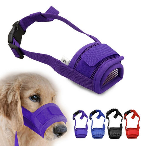 1PC Pet Dog Adjustable Mask Bark Bite Mesh Mouth Muzzle Grooming Anti Stop Chewing Free Shipping