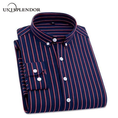 2019 Men Striped Shirts Casual Long Sleeved Mens Shirt 4XL Plus Size Business Man Shirt Male Social Dress Shirts Outwear YN10235