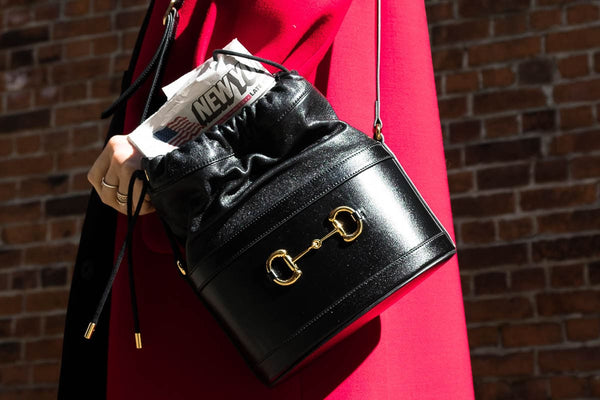 Introducing the Gucci 1955 Horsebit Bucket Bag