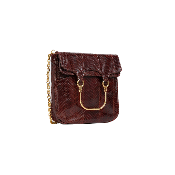 MEDIUM ONE HANDLE BAG IN WATERSNAKE
