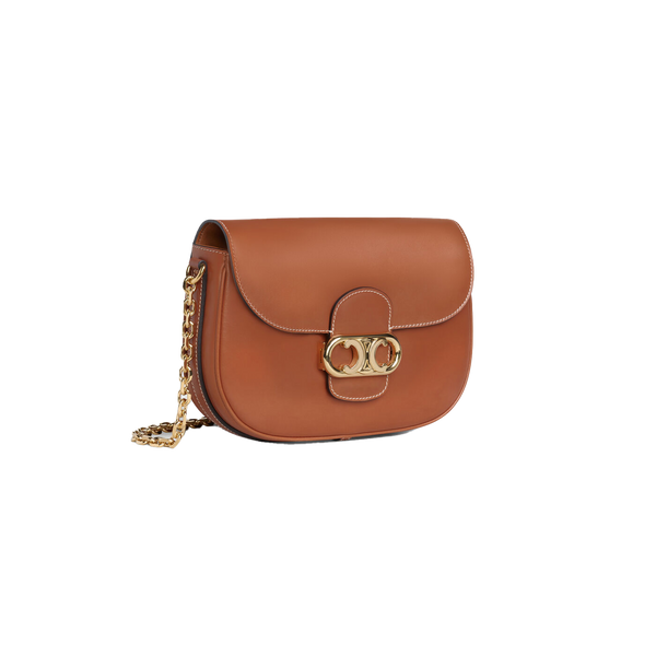 MEDIUM CHAIN MAILLON TRIOMPHE BAG IN NATURAL CALFSKIN