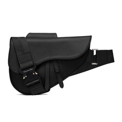 SADDLE BAG IN BLACK CALFSKIN