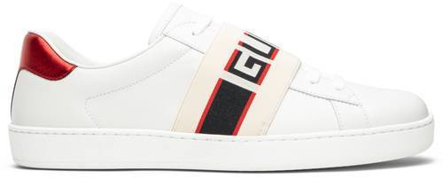 Stripe Leather Sneaker 'White Red Black'