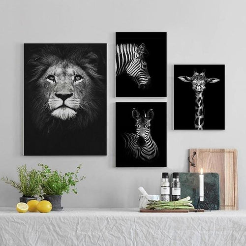 Decorative Black White Animal Poster