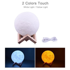 Moon Lamp Night Light 2/3 or 16 Color Variety - 2 colors touch / Moon 10cm