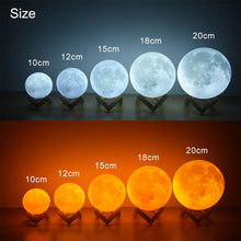 Load image into Gallery viewer, Moon Lamp Night Light 2/3 or 16 Color Variety