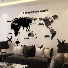 Load image into Gallery viewer, World Map 3D Decorative Wall Sticker