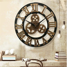 Load image into Gallery viewer, Roman Style Large Wall Clock Gold Silver Bronze