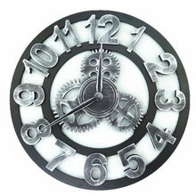 Load image into Gallery viewer, Roman Style Large Wall Clock Gold Silver Bronze - Silver Numbers / 30cm
