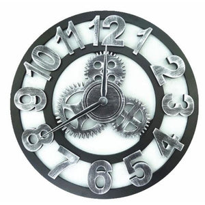 Roman Style Large Wall Clock Gold Silver Bronze - Silver Numbers / 30cm