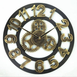 Roman Style Large Wall Clock Gold Silver Bronze - Gold Numbers / 40cm