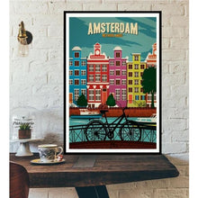 Load image into Gallery viewer, World City Tour Travel Posters - 40X60 CM No Frame / Amsterdam
