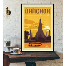 Load image into Gallery viewer, World City Tour Travel Posters - 40X60 CM No Frame / Bangkok