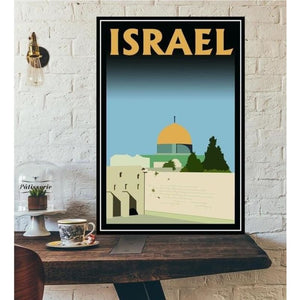 World City Tour Travel Posters - 40X60 CM No Frame / Dome of the Rock