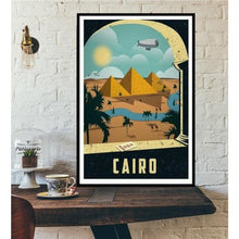 Load image into Gallery viewer, World City Tour Travel Posters - 40X60 CM No Frame / Egypt Cairo Pyramids