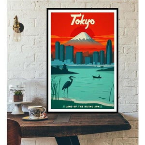 World City Tour Travel Posters - 40X60 CM No Frame / Japan Tokyo 2