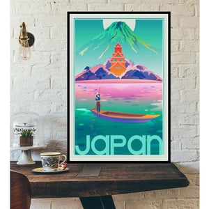 World City Tour Travel Posters - 40X60 CM No Frame / Japan Tokyo