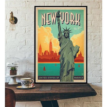 Load image into Gallery viewer, World City Tour Travel Posters - 40X60 CM No Frame / New York