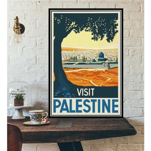 World City Tour Travel Posters - 40X60 CM No Frame / Palestine