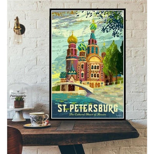 World City Tour Travel Posters - 40X60 CM No Frame / St Petersburg The cu