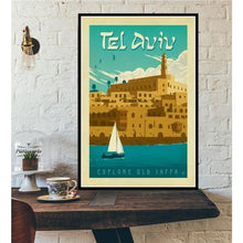 Load image into Gallery viewer, World City Tour Travel Posters - 40X60 CM No Frame / Tel Aviv Israel