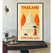Load image into Gallery viewer, World City Tour Travel Posters - 40X60 CM No Frame / Thailand Chiang Mai