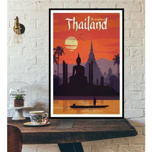 World City Tour Travel Posters - 40X60 CM No Frame / The Kingdom Of Thail