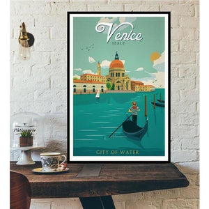 World City Tour Travel Posters - 40X60 CM No Frame / Venice City of Water