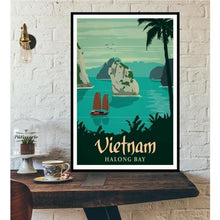 Load image into Gallery viewer, World City Tour Travel Posters - 40X60 CM No Frame / Vietnam Halong Bay
