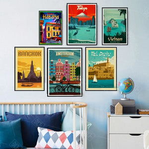 World City Tour Travel Posters
