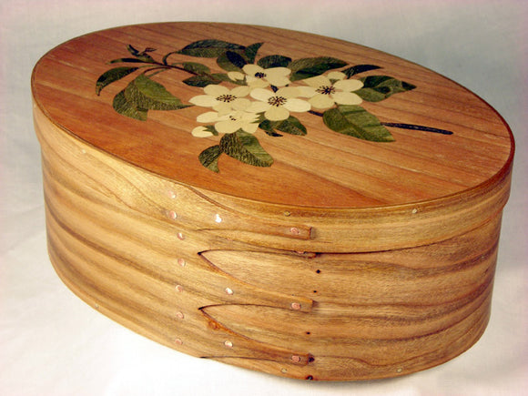 Marquetry Cherry Shaker Box