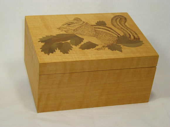 Marquetry Maple Jewel Box