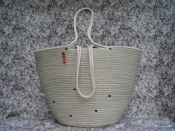 KMP Bags 100% Cotton Weeping Cord Tote Customize