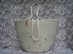 KMP Bags 100% Cotton Weeping Cord Tote