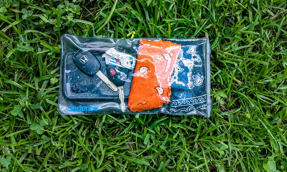 Aquapac Waterproof Pouch | French Broad River Float | Flashpacker Chronicles