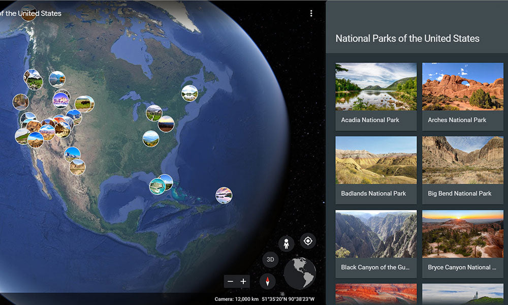 Google Earth National Parks | | Explore During Quarantine | Flashpacker Blog