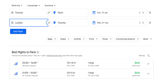 How to Get Cheap Flights Using Google Flights Multi-City Flights