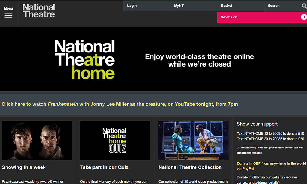 National Theatre at Home | Flashpacker Chronicles