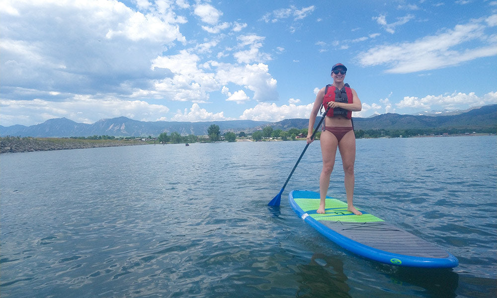 Paddle Boarding with an Aquapac Waterproof Case