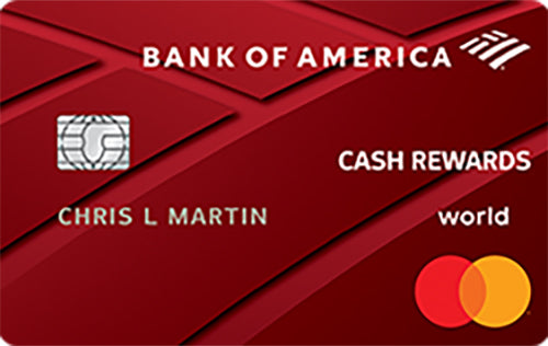 Top Travel Credit Cards-Bank of America Cash Rewards Card