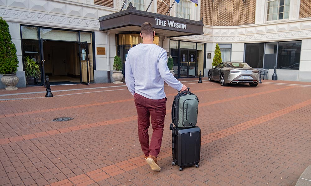Travel Backpacks with Built-In Trolley Sleeve