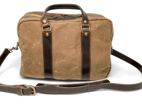 "Jack Foster ""The Memphis"" Canvas and Leather Satchel Bag 