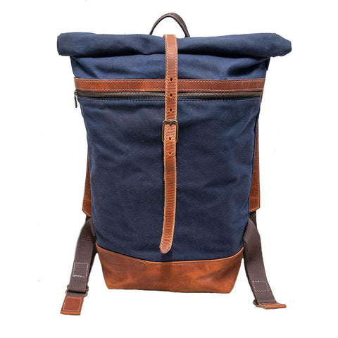 Jack Foster Waxed Canvas & Leather Rucksack | Daypacks