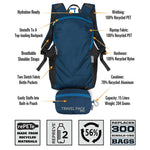 ChicoBag Recycled Materials Packable Daypack | Luggage and Travel Bags